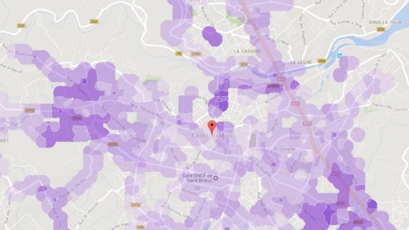 Couverture et débit 4G Free Mobile : Focus sur Saint-Brieuc