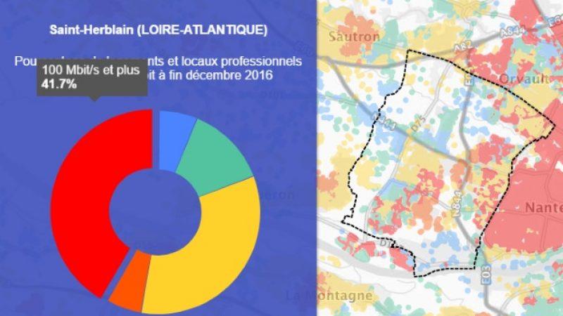 Découvrez les cartes du déploiement très haut débit de Saint-Herblain