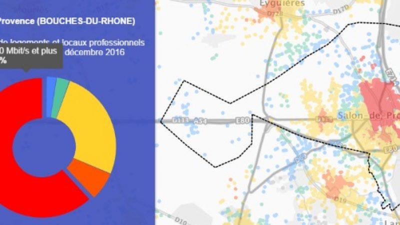 Découvrez les cartes du déploiement très haut débit de Salon-de-Provence