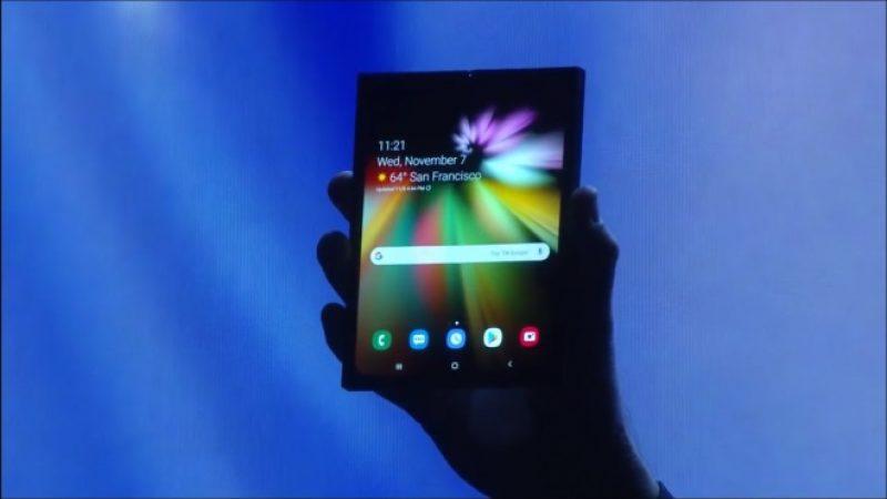Galaxy F : le smartphone pliable de Samsung dépasserait la barre des 2000 euros