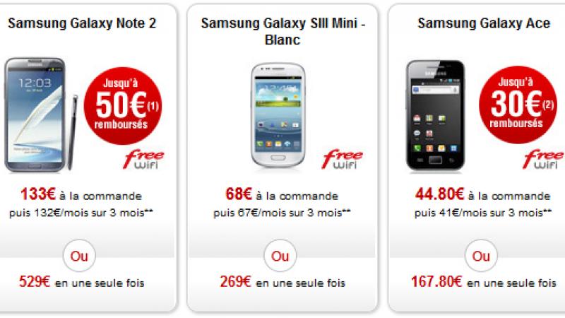 [MàJ] Free Mobile : Le Samsung Galaxy S3 Mini et Ace sont de nouveau disponibles
