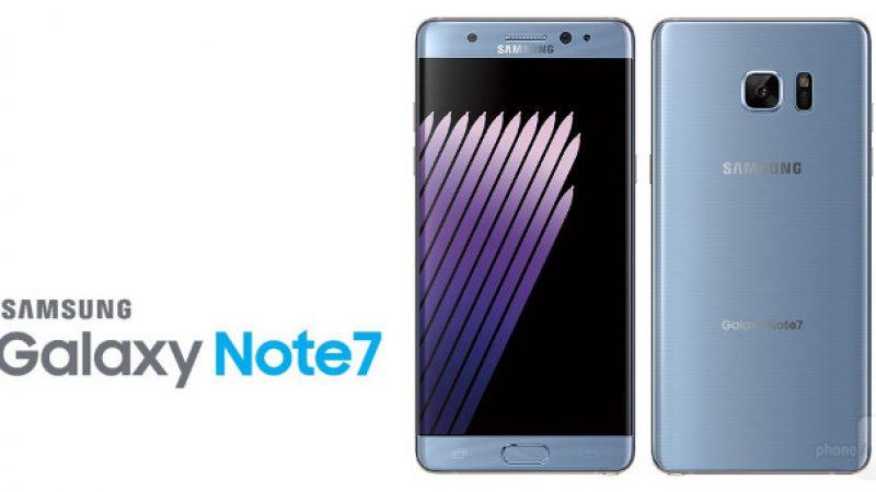 Samsung bloque les derniers Note 7 en France