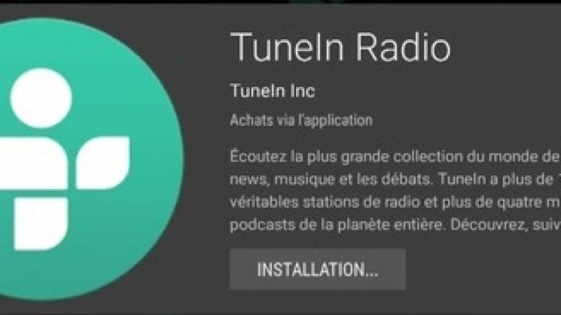 L'appli Freebox mini 4K de la semaine : découvrez TuneIn Radio
