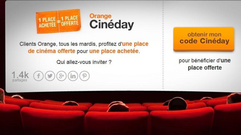 Orange limite les places offertes dans son offre Cineday