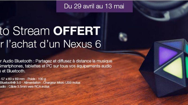 Un récepteur Moto Stream offert pour l'achat d'un Nexus 6 chez Free Mobile