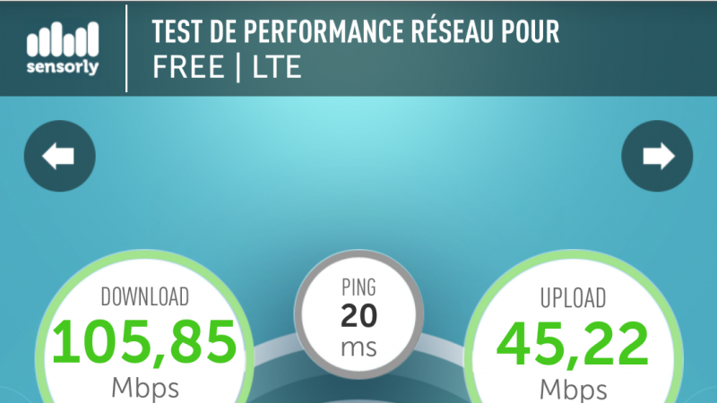 Record 4G Free Mobile à Elancourt (Yvelines)