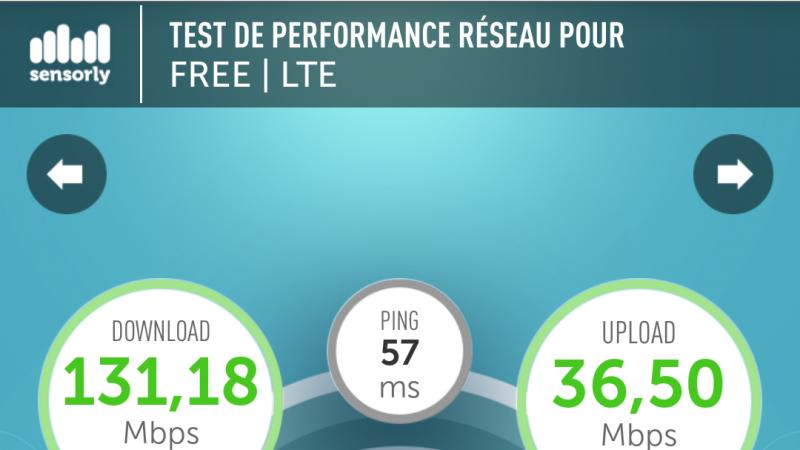 4G Free Mobile Metz nouveau record  battu !