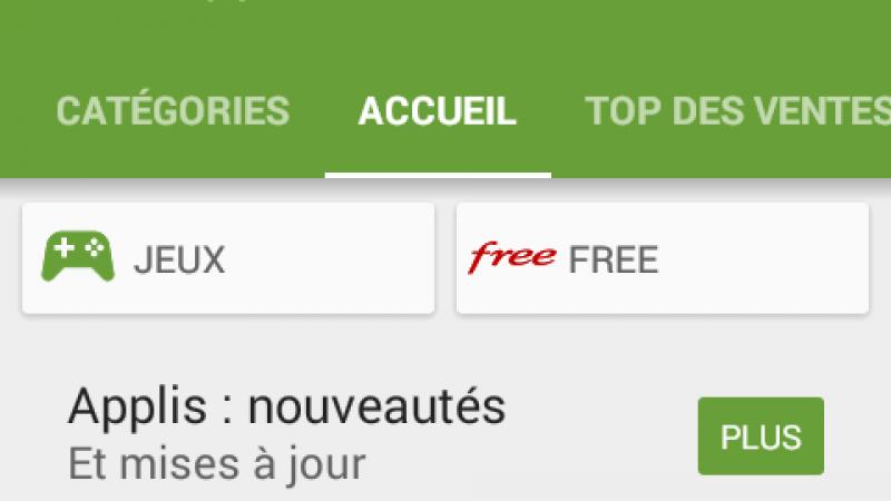 Un nouvel onglet « Free » fait son apparition dans le Play Store