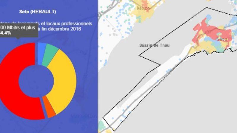 Découvrez les cartes du déploiement très haut débit de Sète
