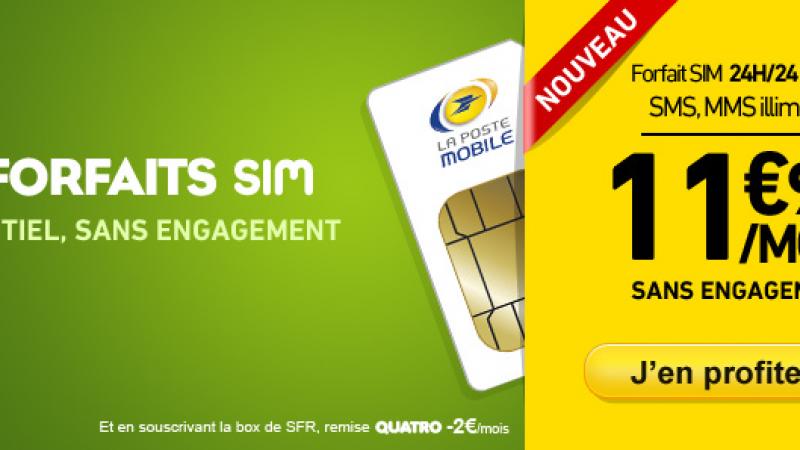 La Poste Mobile lance un nouveau forfait à  11,90 € sans engagement