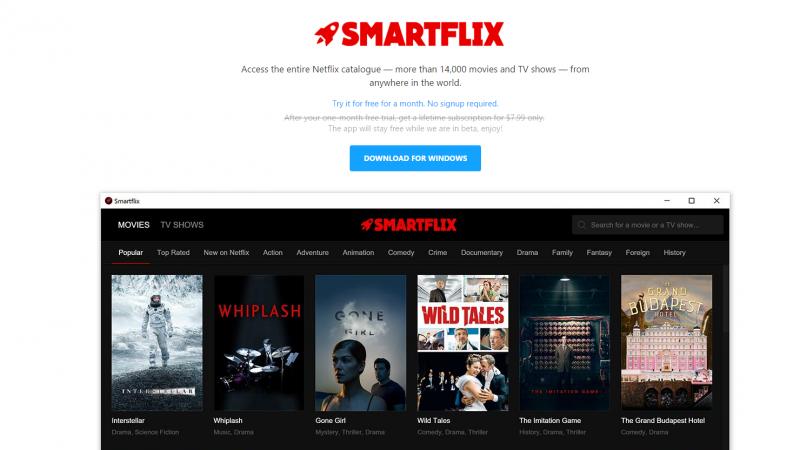Le service Smartflix vous permet d'accéder au catalogue mondial de Netflix