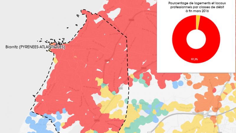 Découvrez les cartes du déploiement très haut débit à Biarritz