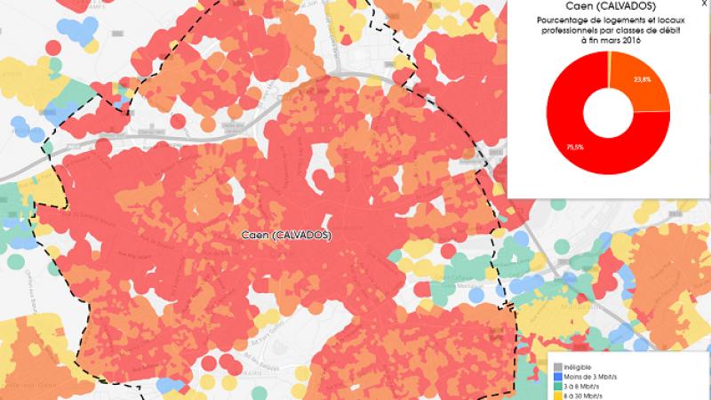 Découvrez les cartes du déploiement très haut débit à Caen