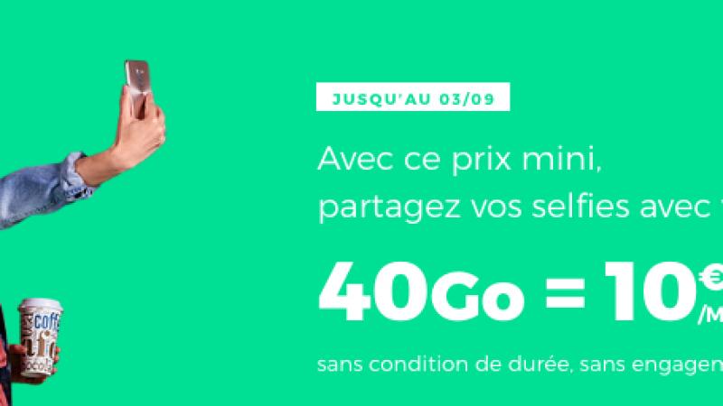 RED by SFR lance une offre 40Go à 10€/mois à vie