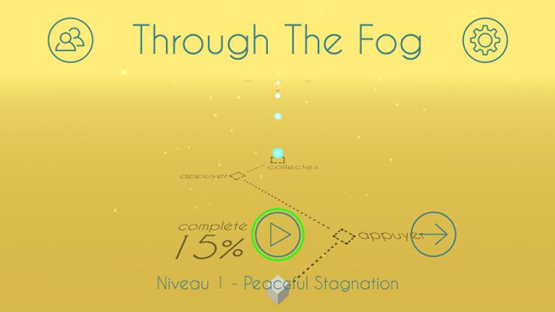 Nouveau jeu sur Freebox Mini 4K : Traversez divers niveaux avec votre cube dans Through The Fog