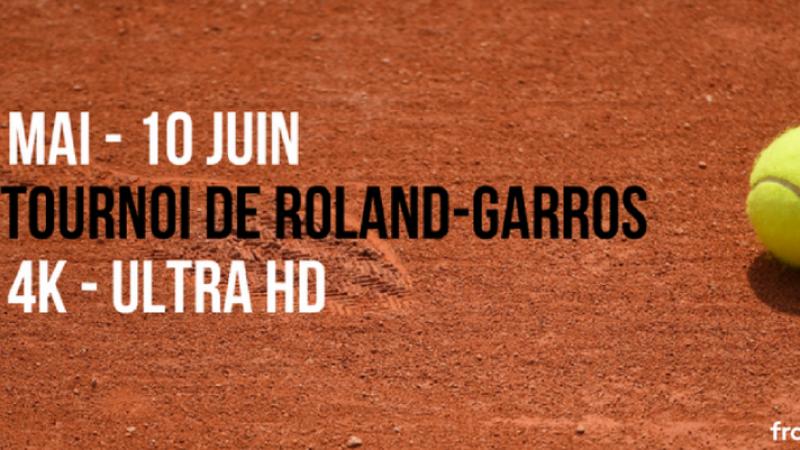 France Télévisions lance une chaîne éphémère en 4K à l'occasion des 30 ans de Roland Garros