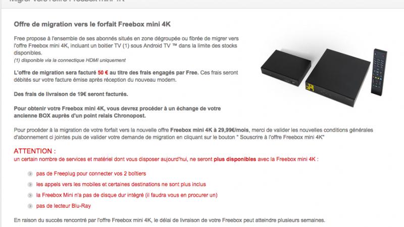 La migration de la Freebox Révolution vers la Mini 4K est disponible !