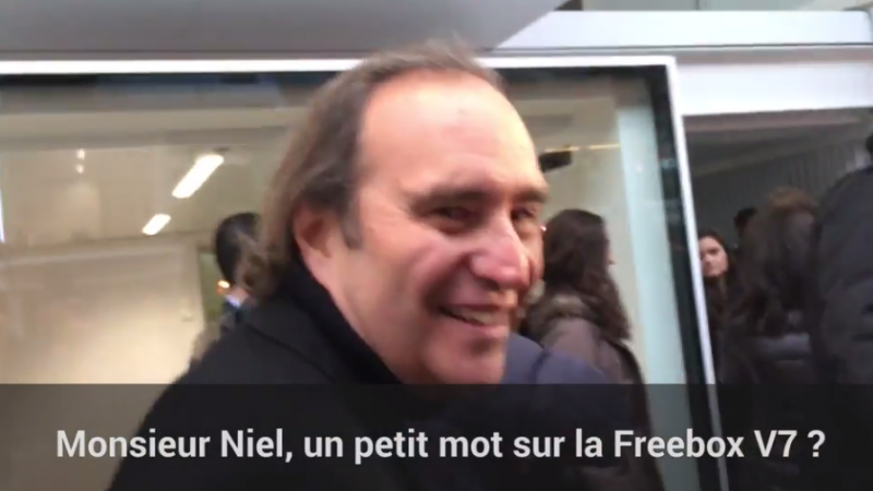 Xavier Niel interrogé sur la sortie de la Freebox V7 : « Chuuut »