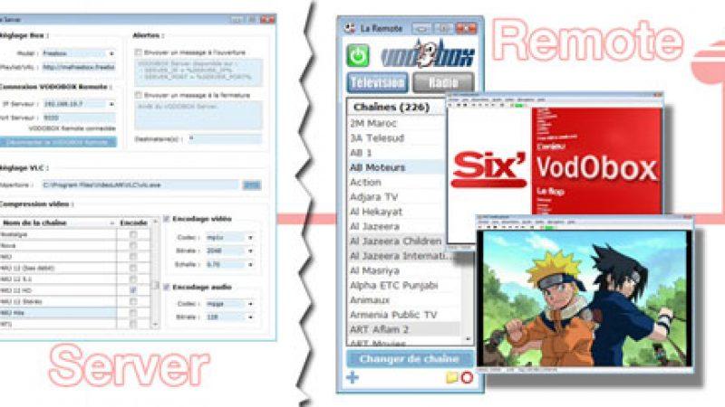 Nouvelle version VODOBOX: Freebox TV sur votre réseau local