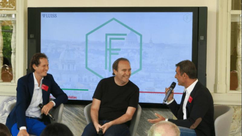 Xavier Niel était invité à Rome avec les grands noms du numérique Spiegel (Snapchat), Elkann (Fca) au Global Founders Forum 2017