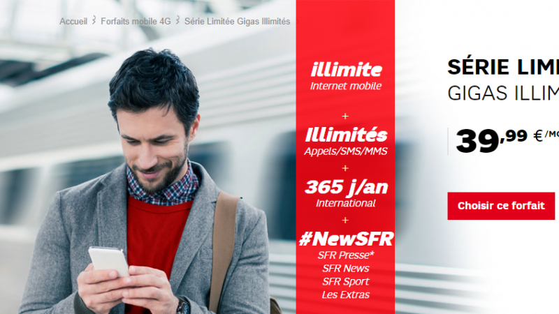 SFR lance une offre mobile estivale 4G illimitée, à 39,99€/mois