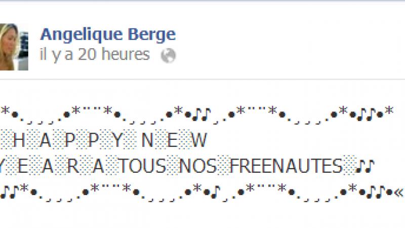 Les voeux 2014 d'Angélique Berge aux Freenautes