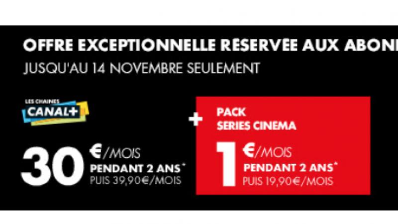 Nouvelle offre Canal+ réservée aux abonnés Free : le pack « série cinéma » pour 1€ de plus par mois
