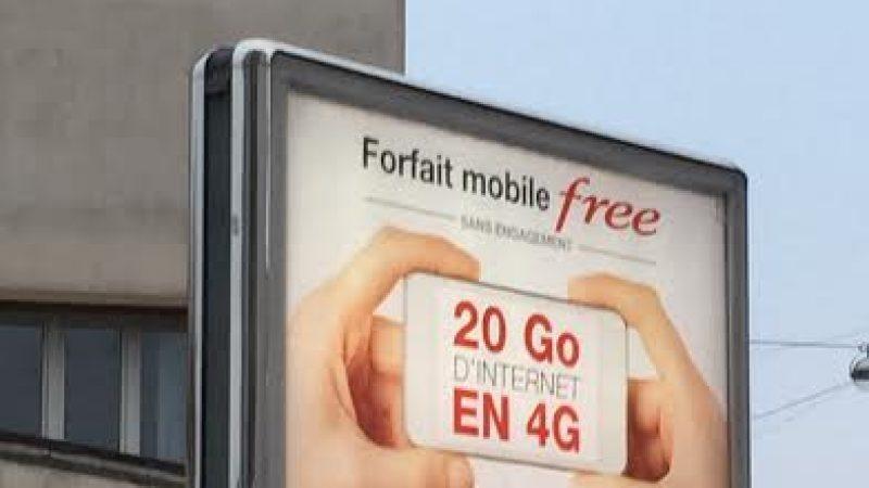 Nouvelle campagne d'affichage Free Mobile