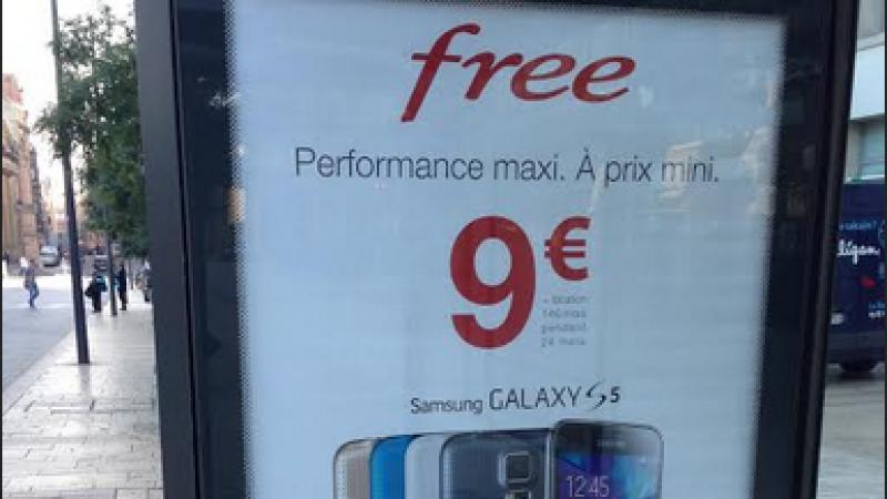 Nouvelle campagne d'affichage pour la location Free Mobile