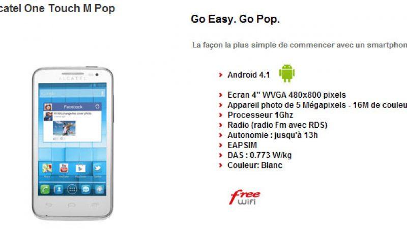 Free Mobile : nouveau fabricant et nouveau téléphone avec l'Alcatel One Touch M Pop