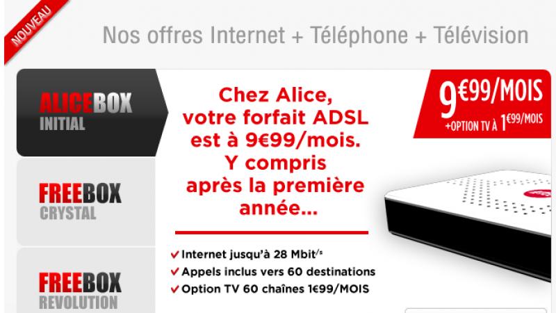 L'offre Alice Box Plus disparait au profit des offres Freebox