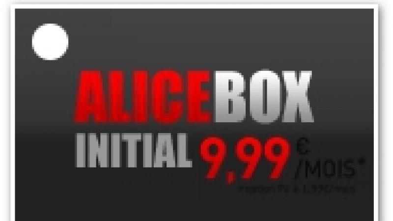 Alicebox Initial : Décryptage de l'offre à 9,99 euros/mois