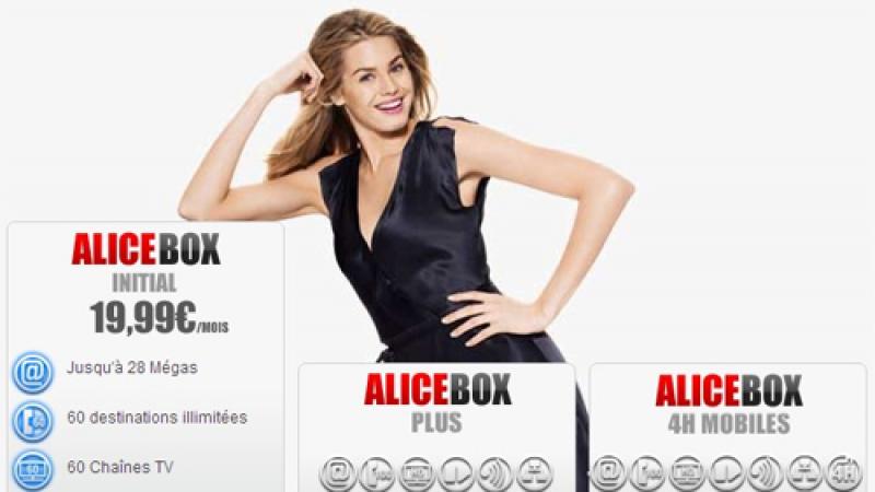 L'offre Alicebox Initiale, à 19.99€ par mois n'est plus disponible