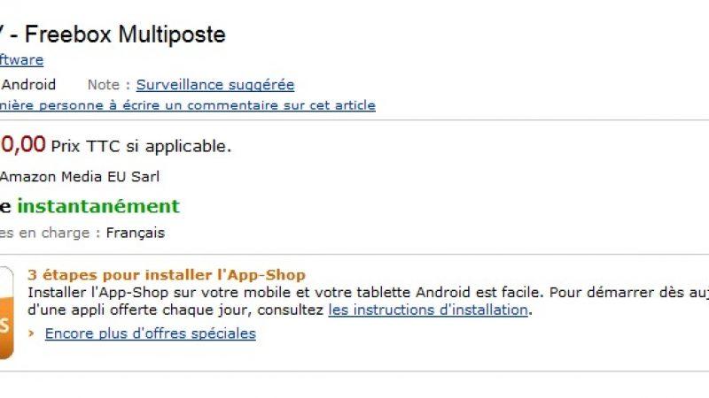 Box'n TV sort sur Kindle Fire et dans l'Amazon App-Shop