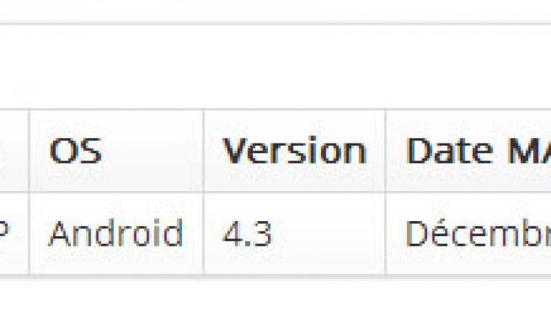 Free et Sony annoncent Andoid 4.3 pour xPeria SP