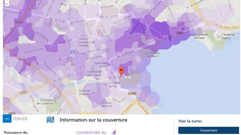 Couverture et débit 4G Free Mobile : Focus sur Annecy