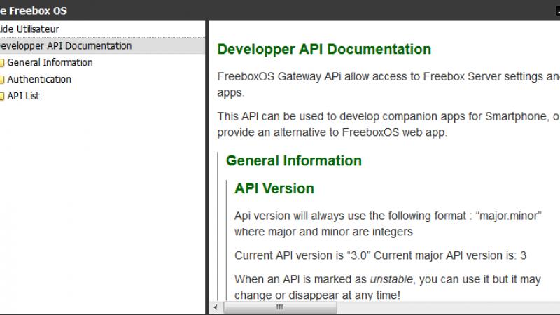 Freebox OS 3.0 : les nouvelles API
