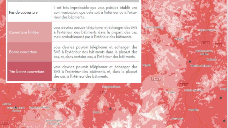Free, Bouygues, Orange et SFR : les nouvelles cartes de couverture de l'Arcep sont désormais disponibles