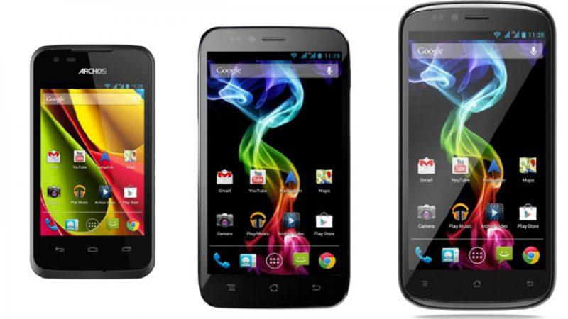 ARCHOS présente sa première gamme de smartphones 3G+ à prix attractifs