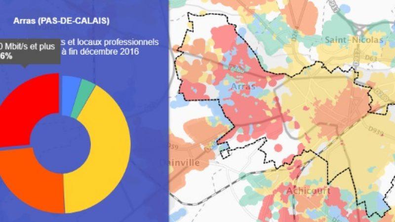 Découvrez les cartes du déploiement très haut débit de Arras