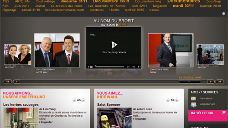 Le service de catch-up TV d'Arte bientôt disponible sur les box