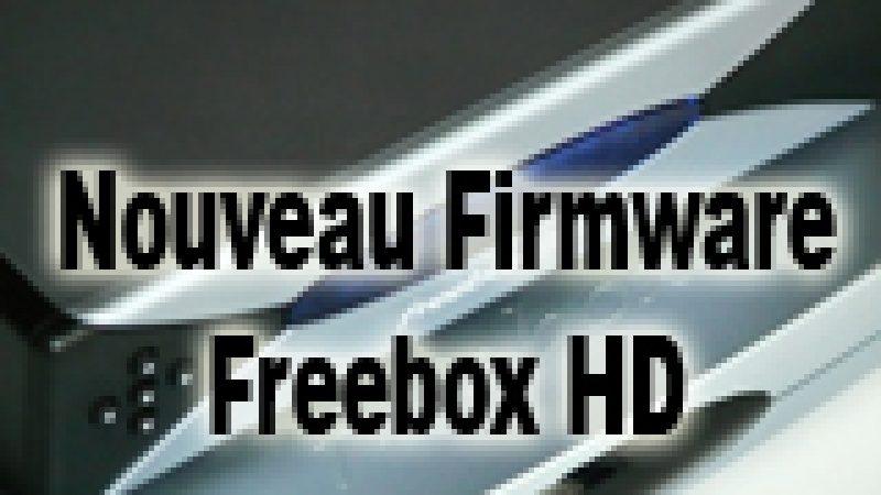 Nouveau firmware Freebox HD et amélioration de l'enregistrement direct