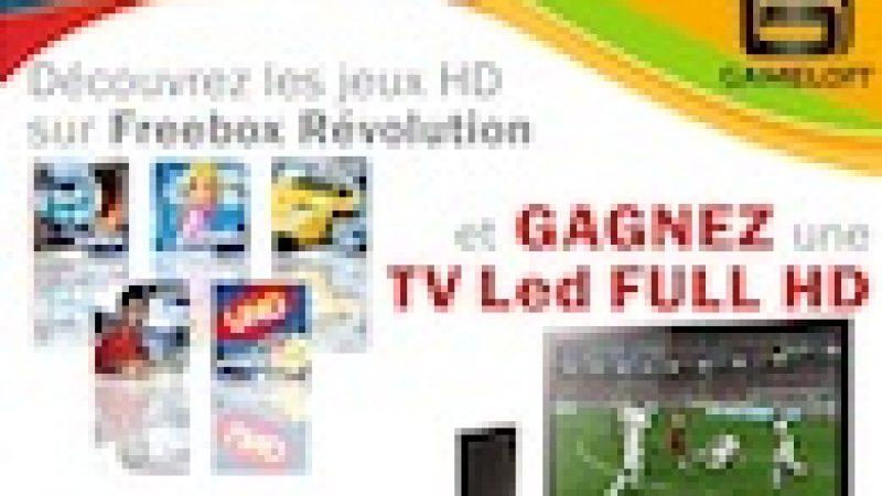 Concours Gameloft / UniversFreebox : Gagnez un écran LED avec les jeux HD Freebox de Gameloft