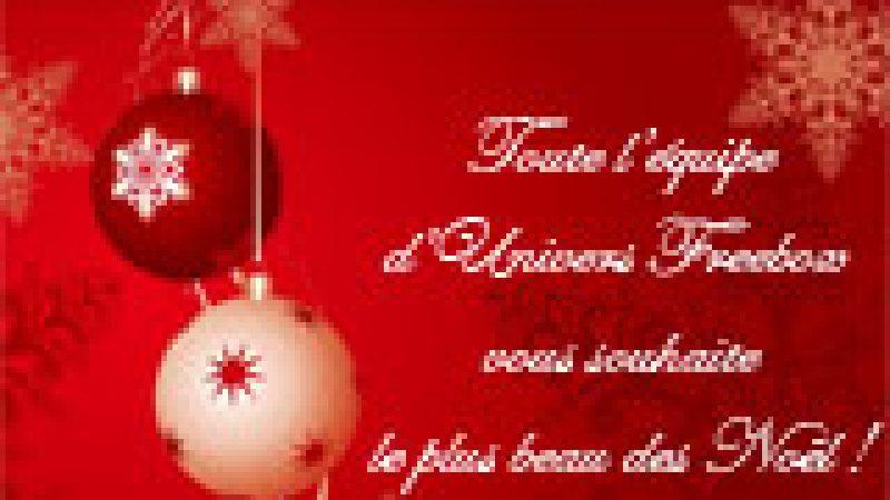 Toute l'équipe d'Univers Freebox vous souhaite un Joyeux Noël !
