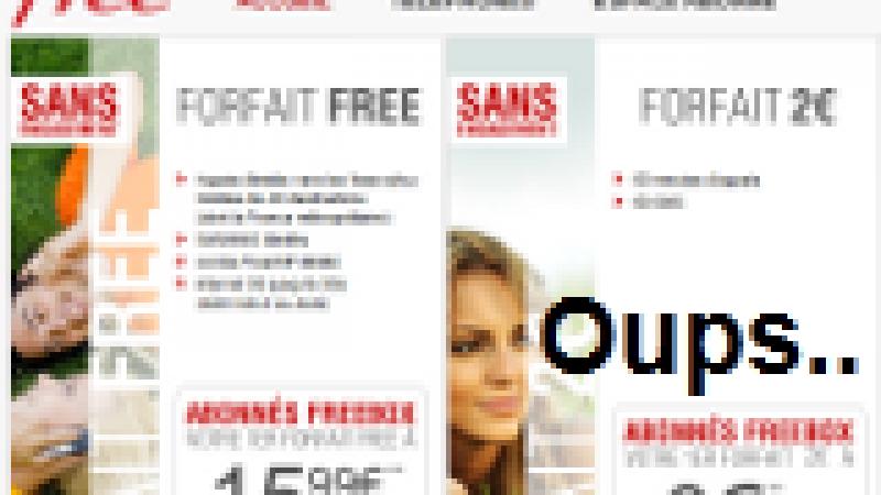 [MàJ] Le site d'inscription à Free Mobile est indisponible