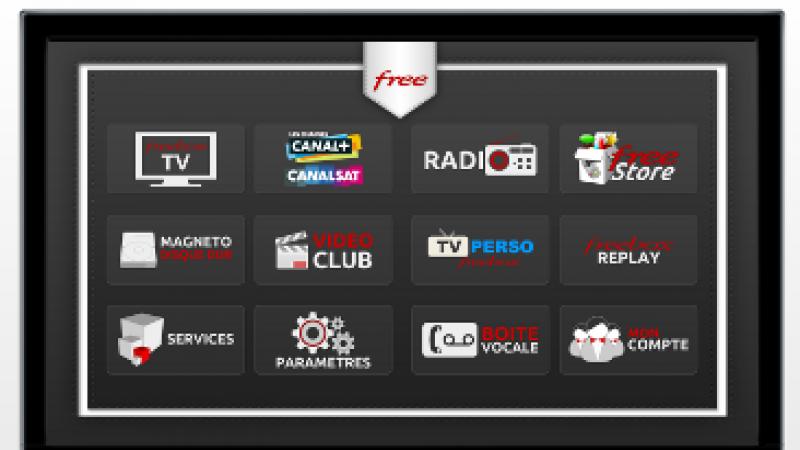 Découvrez l'interface TV de la Freebox Crystal