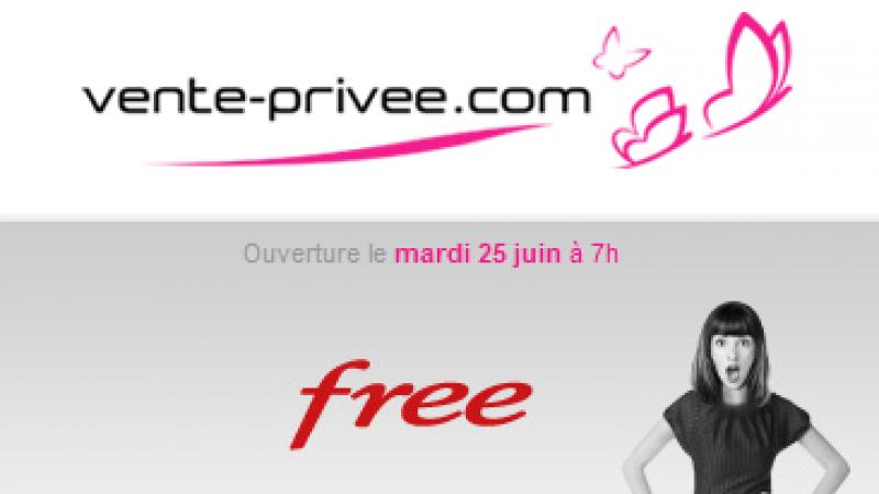« Evènement Free » chez Vente-Privée mardi prochain