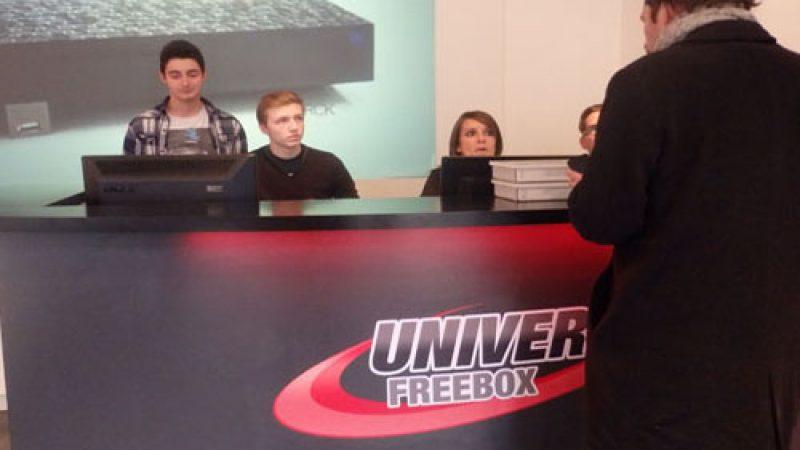 Angélique Berge en visite au Concept Store Univers Freebox : découvrez les photos