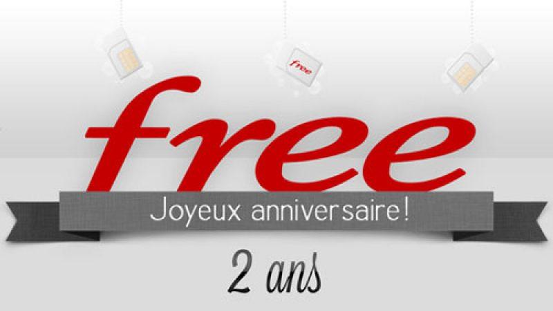 Free Mobile fête aujourd'hui ses 2 ans ! Bon anniversaire !
