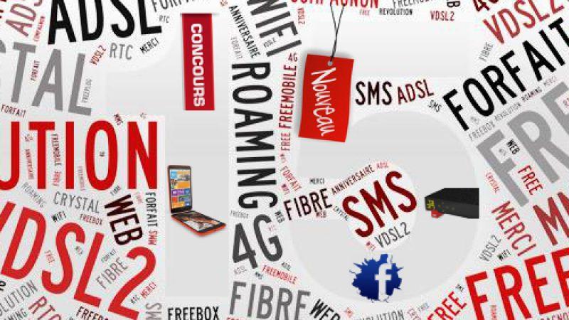 Les nouveautés de la semaine chez Free : 15 ans déjà et 1 concours, mobile 4G, firmware pour la Crystal…
